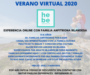 VERANO VIRTUAL familila anfitriona
