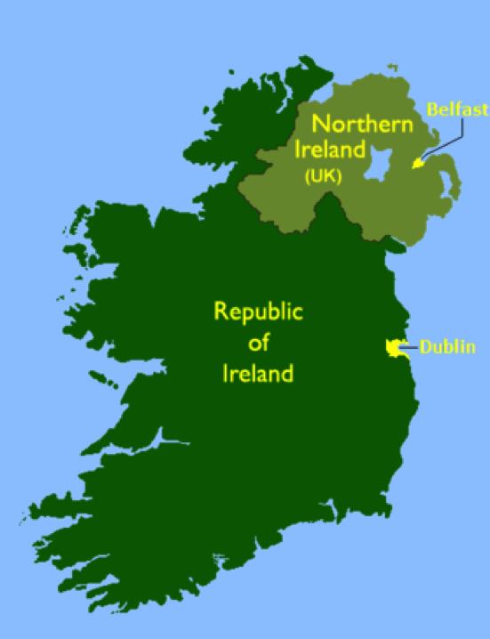 Isla de la República de Irlanda, donde puedes estudiar en Irlanda un curso académico o trimestre